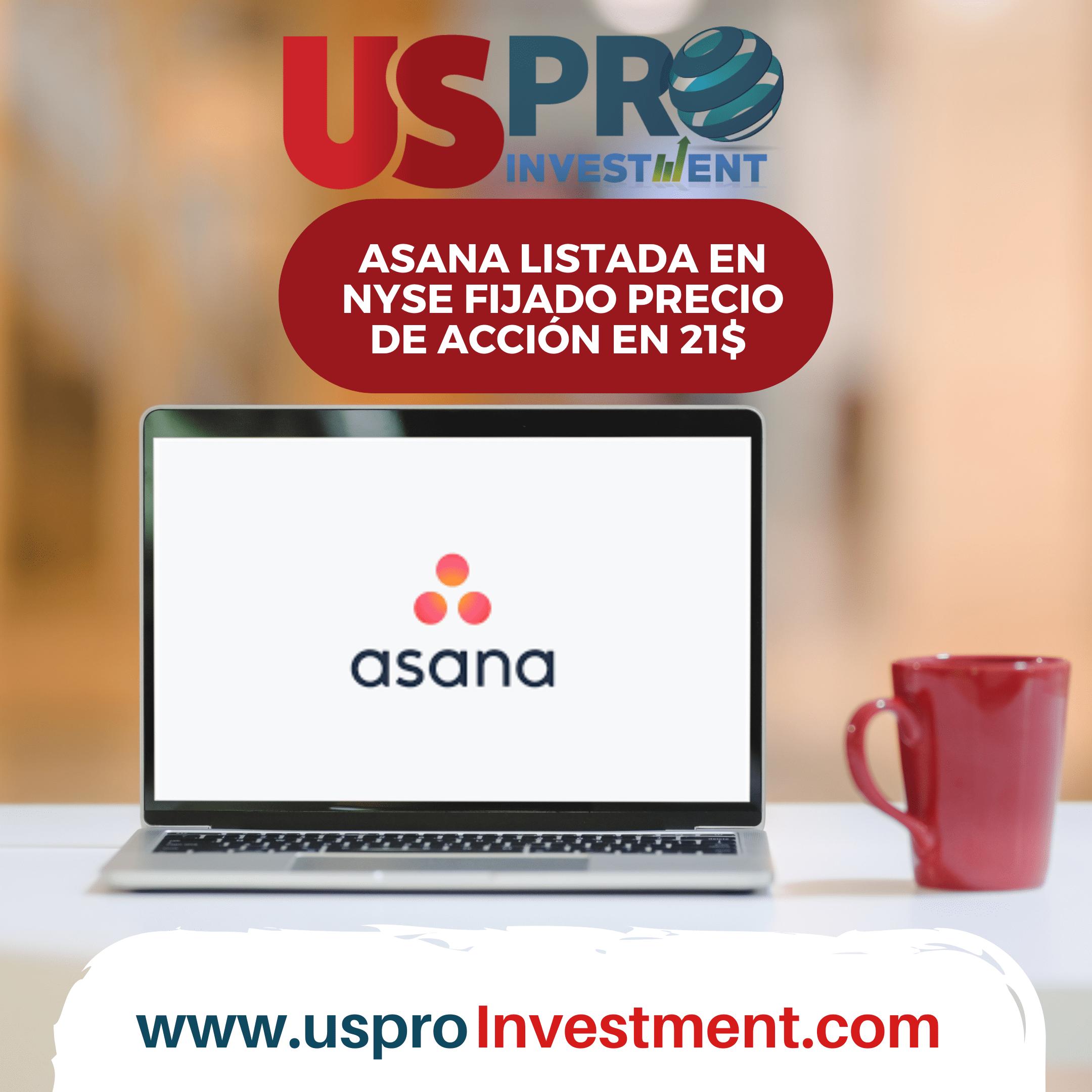 Asana listada en el NYSE y fijado su precio en 21$