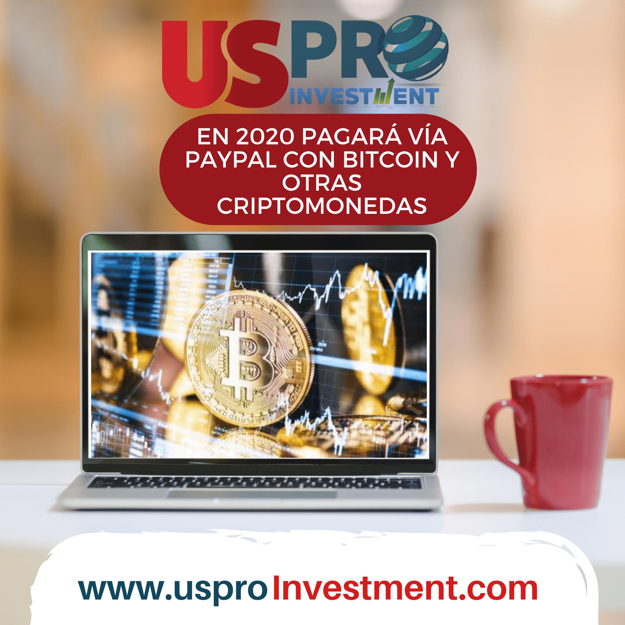 En 2020 pagará vía PayPal con Bitcoin y otras Criptomonedas