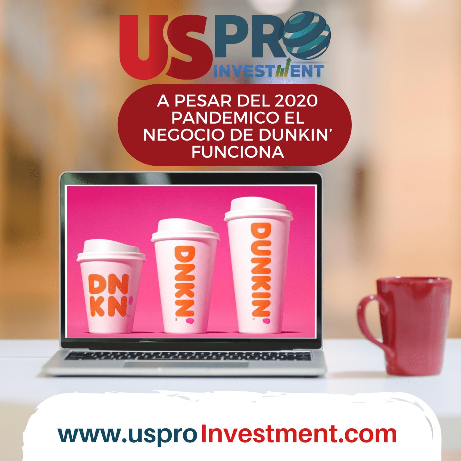 A pesar del 2020 pandemico el negocio de Dunkin' funciona