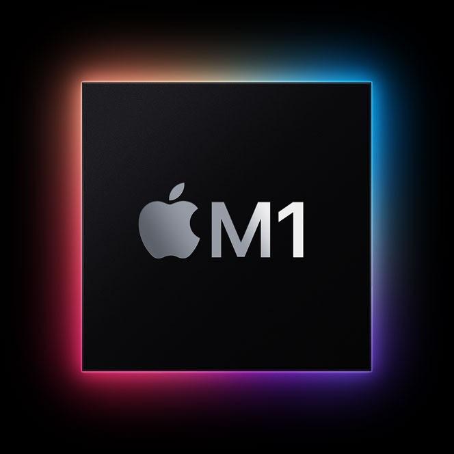 Imagen concepto del chip Apple M1, capturada de la web de apple https://www.apple.com/mac/m1/
