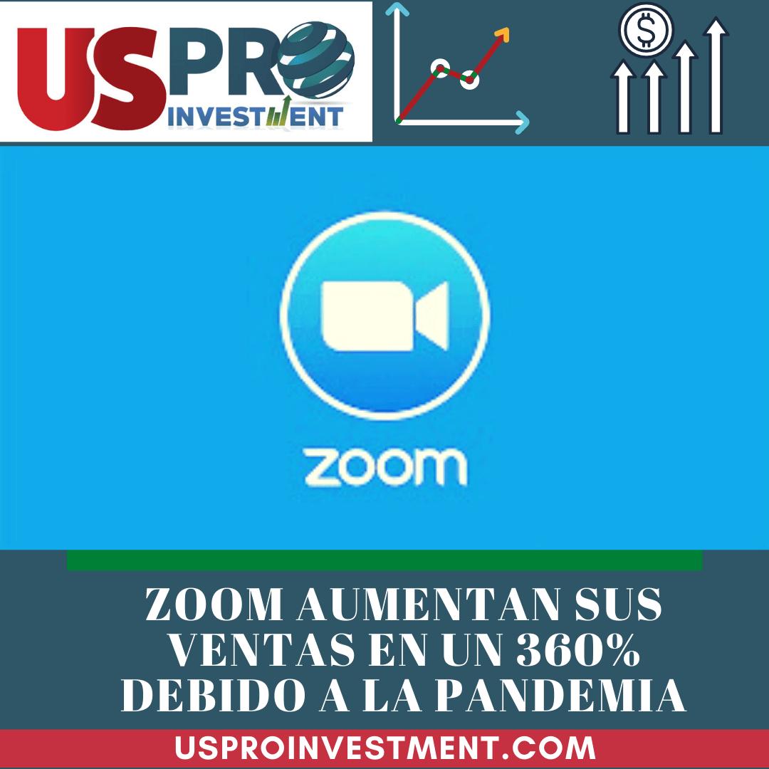 Zoom aumentan sus ventas en un 360% gracias a la pandemia